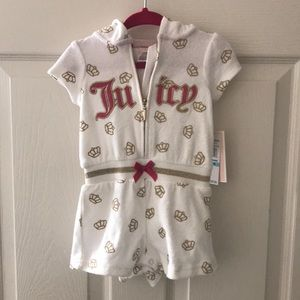 Juicy Couture baby romper size 6/9 months
